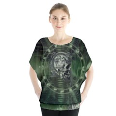 Awesome Creepy Mechanical Skull Blouse by FantasyWorld7