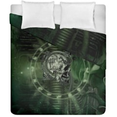 Awesome Creepy Mechanical Skull Duvet Cover Double Side (california King Size) by FantasyWorld7