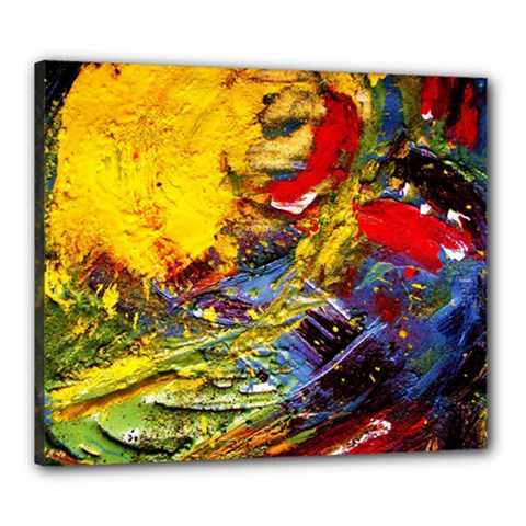 Yellow Chik 3 Canvas 24  X 20  (stretched) by bestdesignintheworld