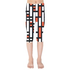 Linear Sequence Pattern Design Kids  Capri Leggings  by dflcprints