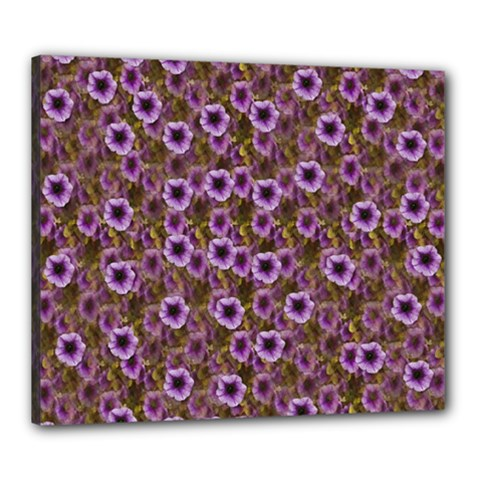 The Sky Is Not The Limit For A Floral Delight Canvas 24  X 20  (stretched) by pepitasart