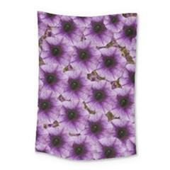 The Sky Is Not The Limit For Beautiful Big Flowers Small Tapestry by pepitasart