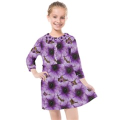 The Sky Is Not The Limit For Beautiful Big Flowers Kids  Quarter Sleeve Shirt Dress