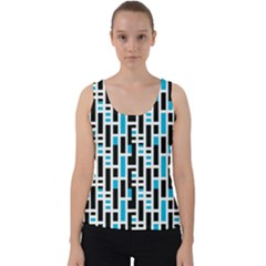 Linear Sequence Pattern Design Velvet Tank Top by dflcprintsclothing