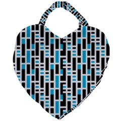 Linear Sequence Pattern Design Giant Heart Shaped Tote