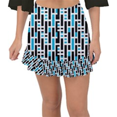 Linear Sequence Pattern Design Fishtail Mini Chiffon Skirt by dflcprintsclothing