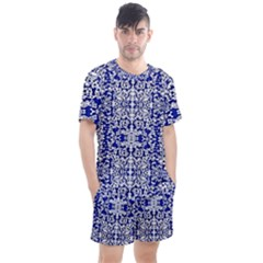 Red The Print Men s Mesh Tee And Shorts Set