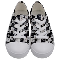 J 8 Kids  Low Top Canvas Sneakers