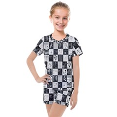 J 8 Kids  Mesh Tee And Shorts Set