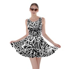 Maze Draw Skater Dress