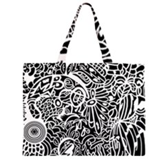 Maze Draw Zipper Large Tote Bag
