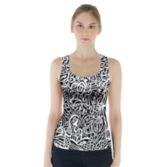 Maze Draw Racer Back Sports Top