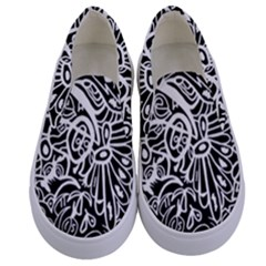 Maze Draw Kids  Canvas Slip Ons