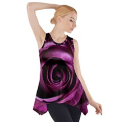 Plant Rose Flower Petals Nature Side Drop Tank Tunic