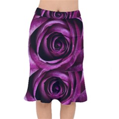 Plant Rose Flower Petals Nature Mermaid Skirt by Sapixe