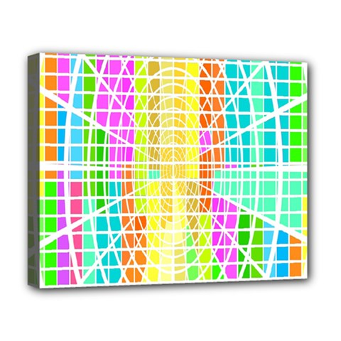 Abstract Squares Background Network Deluxe Canvas 20  X 16  (stretched)