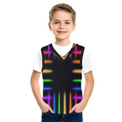 Neon Light Abstract Pattern Lines Kids  Sportswear