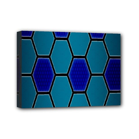 Hexagon Background Geometric Mosaic Mini Canvas 7  X 5  (stretched) by Sapixe