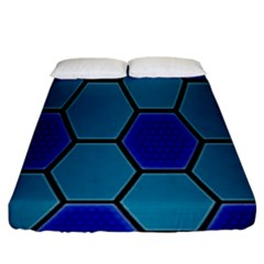 Hexagon Background Geometric Mosaic Fitted Sheet (king Size) by Sapixe