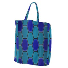 Hexagon Background Geometric Mosaic Giant Grocery Tote