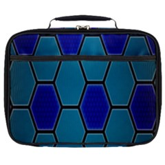 Hexagon Background Geometric Mosaic Full Print Lunch Bag by Sapixe