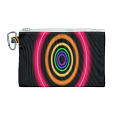 Neon Light Abstract Pattern Lines Canvas Cosmetic Bag (large) by Sapixe