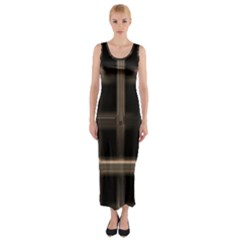 Metal Pattern Background Texture Fitted Maxi Dress by Sapixe