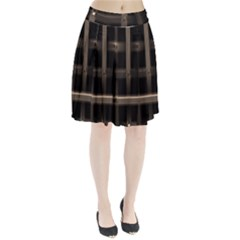 Metal Pattern Background Texture Pleated Skirt