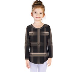 Metal Pattern Background Texture Kids  Long Sleeve Tee by Sapixe