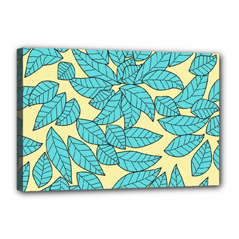 Leaves Dried Leaves Stamping Canvas 18  X 12  (stretched)