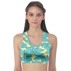 Leaves Dried Leaves Stamping Sports Bra by Sapixe