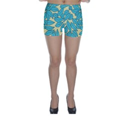Leaves Dried Leaves Stamping Skinny Shorts by Sapixe