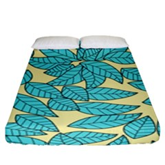 Leaves Dried Leaves Stamping Fitted Sheet (king Size) by Sapixe