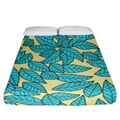 Leaves Dried Leaves Stamping Fitted Sheet (california King Size) by Sapixe