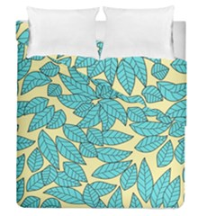 Leaves Dried Leaves Stamping Duvet Cover Double Side (queen Size) by Sapixe