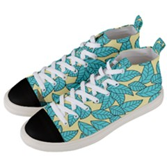 Leaves Dried Leaves Stamping Men s Mid Top Canvas Sneakers by Sapixe