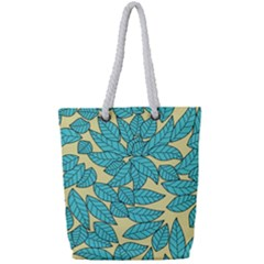 Leaves Dried Leaves Stamping Full Print Rope Handle Tote (small)
