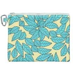 Leaves Dried Leaves Stamping Canvas Cosmetic Bag (xxl) by Sapixe