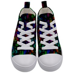 Rainbow Pattern Geometric Texture Kid s Mid Top Canvas Sneakers