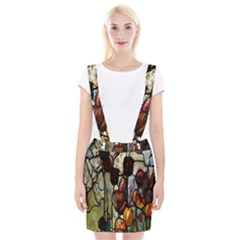 Tiffany Window Colorful Pattern Braces Suspender Skirt