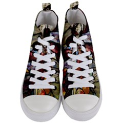 Tiffany Window Colorful Pattern Women s Mid Top Canvas Sneakers