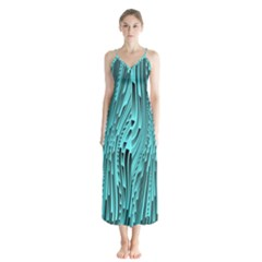Design Backdrop Abstract Wallpaper Button Up Chiffon Maxi Dress