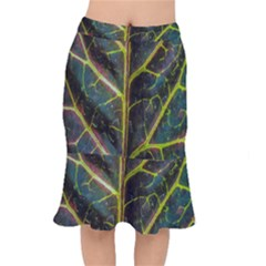 Leaf Abstract Nature Design Plant Mermaid Skirt by Sapixe