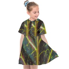 Leaf Abstract Nature Design Plant Kids  Sailor Dress
