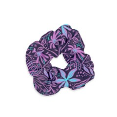 Stamping Pattern Leaves Drawing Velvet Scrunchie