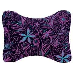 Stamping Pattern Leaves Drawing Velour Seat Head Rest Cushion by Sapixe
