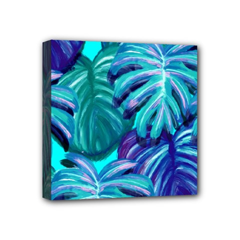 Leaves Tropical Palma Jungle Mini Canvas 4  X 4  (stretched) by Sapixe