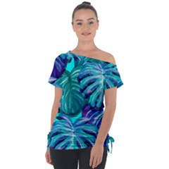 Leaves Tropical Palma Jungle Tie Up Tee by Sapixe
