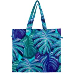 Leaves Tropical Palma Jungle Canvas Travel Bag by Sapixe