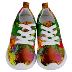 Embroidery Dab Color Spray Kids  Lightweight Sports Shoes